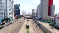 Lima Peru cityscape freeway video