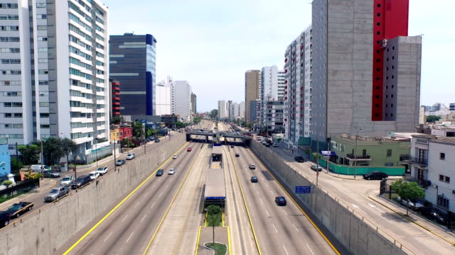 Lima Peru cityscape freeway video
