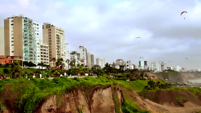 Lima Peru coast boardwalk video