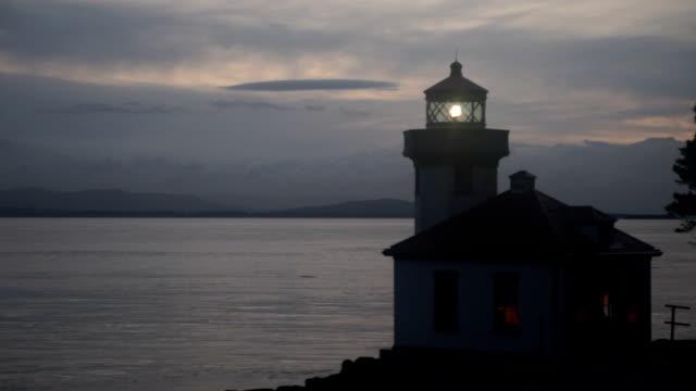 Lime Kiln Lighthouse Haro Strait Maritime Nautical Beacon video