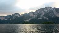 limestone in Cheow Lan lake, Thailand video