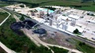 Limestone Plant Industrial Open Pit Mining Limestone Quarry Aerial video