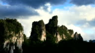 Limestone Rocky Outcrop Timelapse video