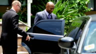 Limousine Chauffeur Meeting Corporate Clients video
