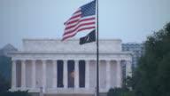 HD Lincoln Memorial Flag WS_1 (1080/24P) video