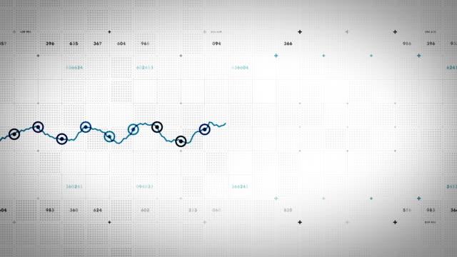 Line Graph Progressing Blue Lite video