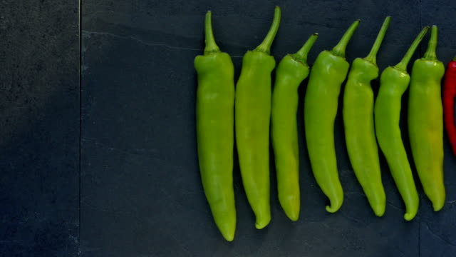 Line of chillies video