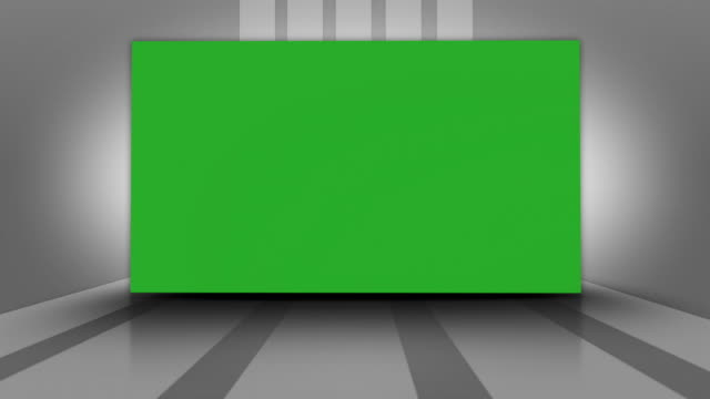 Lines and Green Screen Monitor video