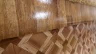 Linoleum flooring background tracking shot video