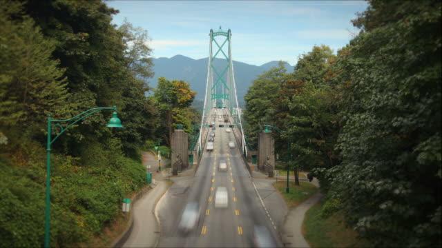 Lions Gate Bridge, Vancouver, Canada video