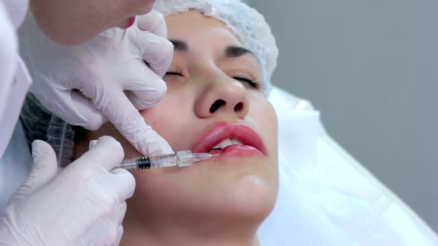 Lip injection plastic surgery video