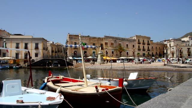 Lipari Harbour, Italy video