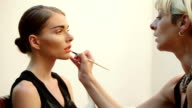 Lips make up video