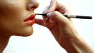 Lips make-up video
