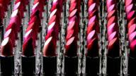 Lipsticks in a row video