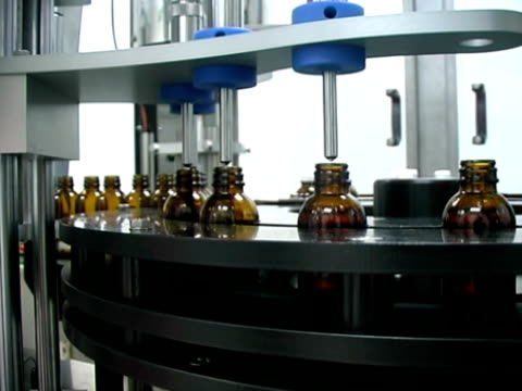 Liquid medicine production line. video