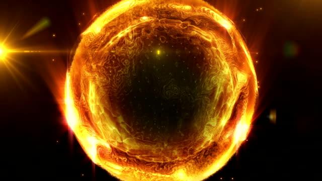 Liquid orange energy ball video