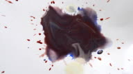 liquid paint mixed on a sheet of white paper video
