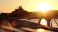 Lisboa Barco Tejo por do sol video