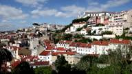 Lisbon Alfama panoramic view video