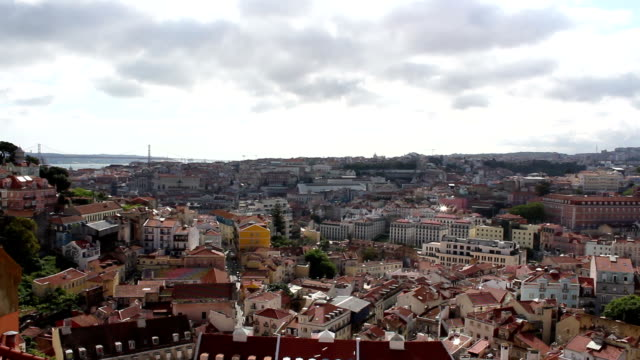 Lisbon Panorama, Time Lapse, Portugal video