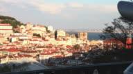 Lisbon, panoramic view at twilight video