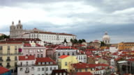 Lisbon, panoramic view to Afama video