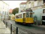Lisbon Portugal Cable Trolly Car 1 video