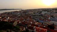 Lisbon sunset zoom timelapse video