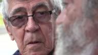 Listening Man Elderly Glasses Talking video