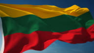 4K Lithuania Flag - Loopable video