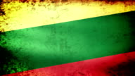 Lithuania Flag Waving, grunge look video