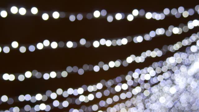 lithuania vilnius famous christmas market night blurred illumination panorama 4k video