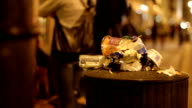 Litter bin full of waste video