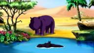 Little African Hippo UHD video
