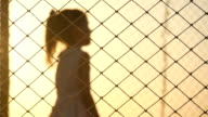 little beautiful girl jumping on trampoline video