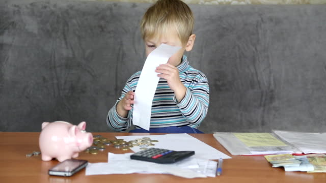little boy Accountant video