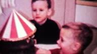 Little Boy Celebrates His Birthday With Cake-1966 Vintage 8mm film video