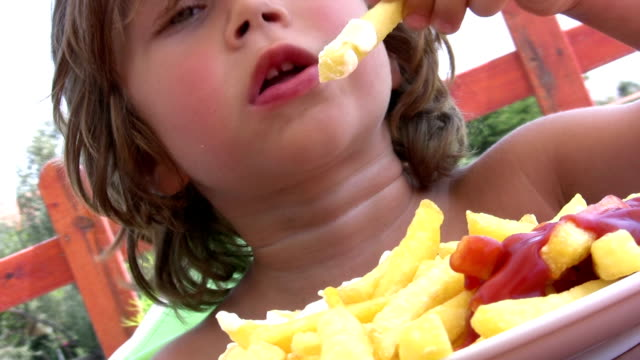 Little Boy Eating French Fries video