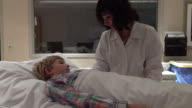 Little Boy Getting Cat Scan In Hospital video