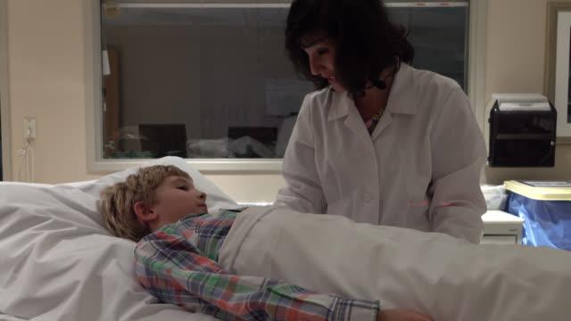 Little Boy Getting Cat Scan In Hospital video