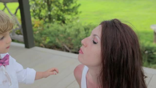 Little Boy Giving Kiss video