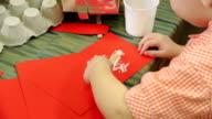 Little Boy Gluing Paper video