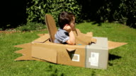 Little Boy In A Cardboard Rocket video