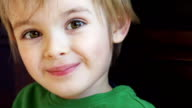 Little boy in slow motion video
