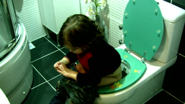 Little boy in the bathroom video