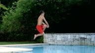 A little boy jumping video