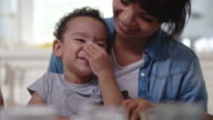 Little boy on lap video