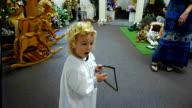Little Boy Playing Harp video