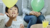 Little Boy Playing With Balloon video